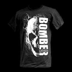 Skull Bomber mustavalko t-paita
